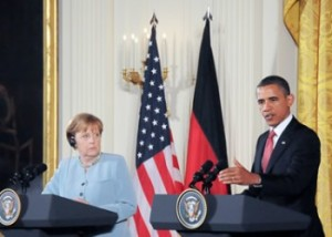 Obama Merkel 300x214 How Obama Wants Us To Be More Like Europe