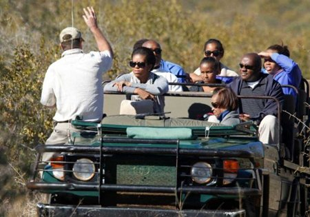 Michelle Obama, on a safari of which the Fed's refuse to disclose its expense.