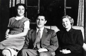 Ann, Stanley and Madelyn Dunham