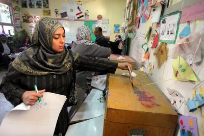 Egyptians vote for the first round Parliamentary elections in Cairo