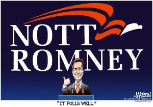 Cartoon NottRomney 300x210 Too early for Romney to declare victory?