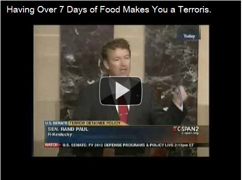 Rand Paul - Having food for more than 7 days makes you a terrorist