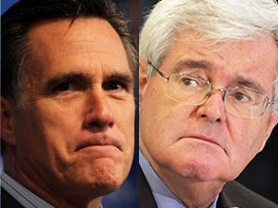 mitt romney newt gingrich8433 Dead Heat In Florida