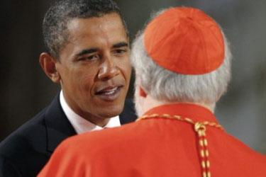 obama and catholics1 The Catholic Bishops vs. Obama? Justice Ginsberg vs. our Rather Old Constitution?
