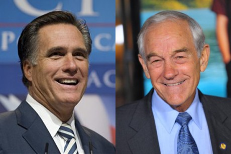 ron paul mitt romney7389 300x200 For Romney and Paul, a strategic ...