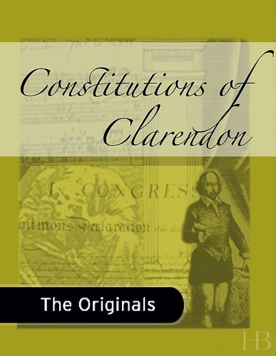 Constitutions of Clarendon