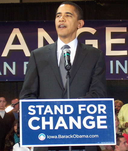 Barack Obama Change sign SC Barack Obama: George W. Bush Fan or Foe?