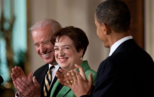 Barack Obama Elena Kagan SC 300x190 Why Again Is Kagan Sitting in Judgment of Obamacare?