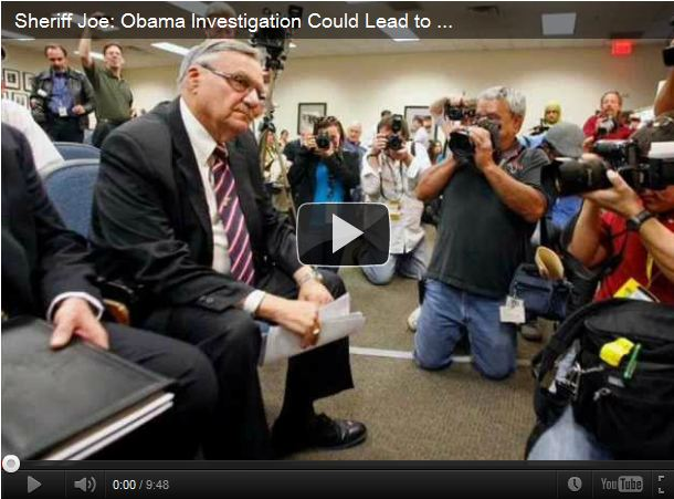 Joe Arpaio - Obama Could Be Off Ballot