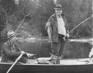 Herbert Hoover Fishing
