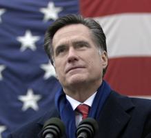 Mitt Romney American Flag SC Romney Won't Challenge Liberal Media Bias
