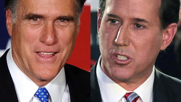 Mitt Romney Rick Santorum SC