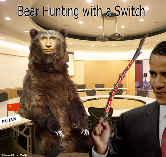 Obama Bear Hunting Putin SC While Obama plays golf, Putin defends liberty