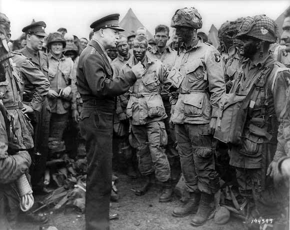 eisenhower talking to troops SC