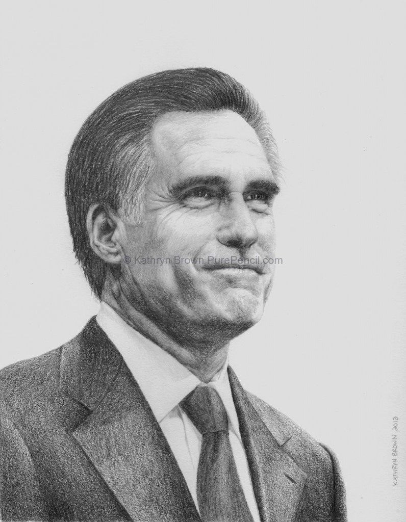 mittromney purepencil portraits 796x1024 Romney vs. McCain and Obama vs. Bush? Who Wins?
