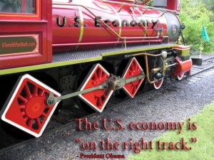 Economy On Right Track SC 300x225 Election 2012: Change Tracks Or Wreck The Train?