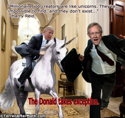 Harry Reid Donald Trump No Millionaire Job Creators SC Harry Reid: Obamas Court Jester, Nevadas Joker