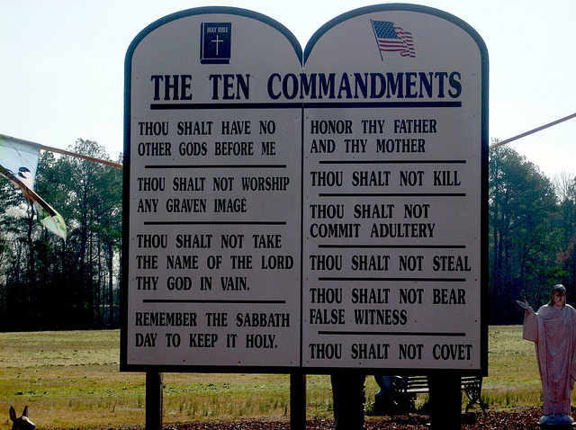 The Ten Commandments SC Atheist group opposes Ten Commandments at school and church