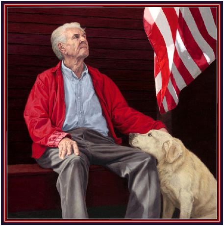 Man Flag Dog Happy Memorial Day! Enjoy These Wonderful Cartoons and poem!