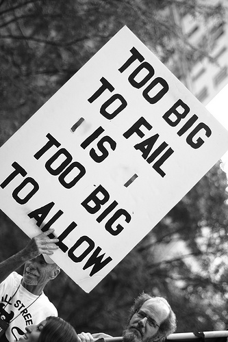 Occupy Wall Street sign SC