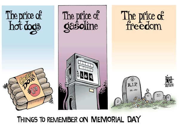 Price of hot dogs Happy Memorial Day! Enjoy These Wonderful Cartoons and poem!