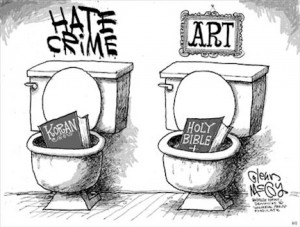 hate-crime-koran-art-bible-blasphemy-sad-hill-news