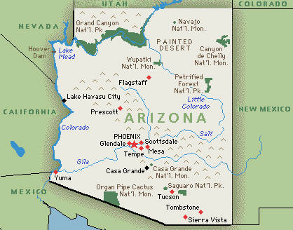 arizona map SC What Arizona Teaches Us About Politics of Illegal Immigration