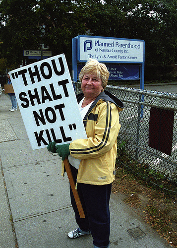 Abortion Protestor SC The Left's Fascination with Death...
