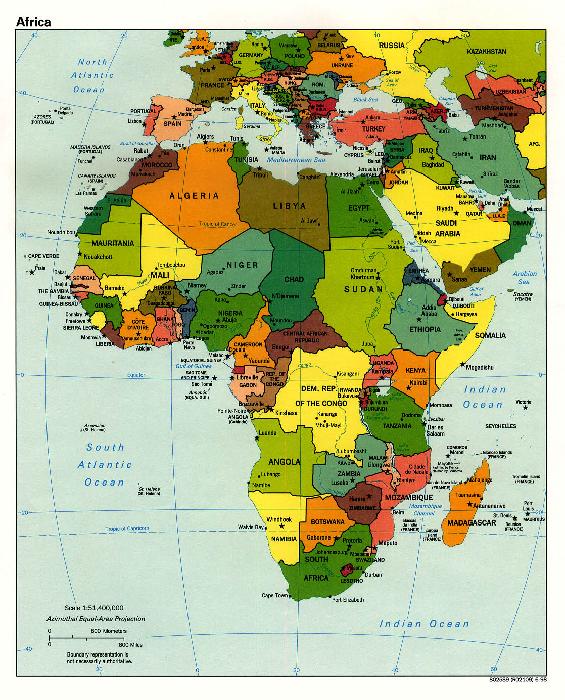Africa map SC