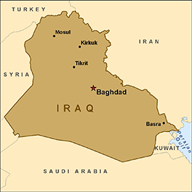 Iraq Map SC Iraq Rebuilding Risked Billions in U.S. Funds, Auditor Concludes