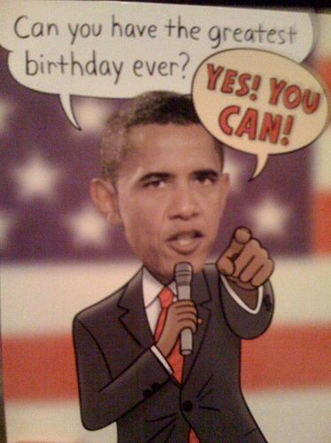Obama BDay card SC The Nations In Major Trouble   But Sign Obamas B Day Card