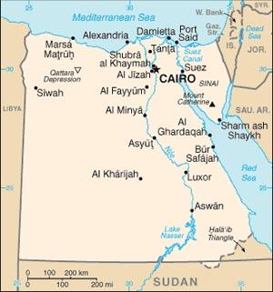 egypt map SC