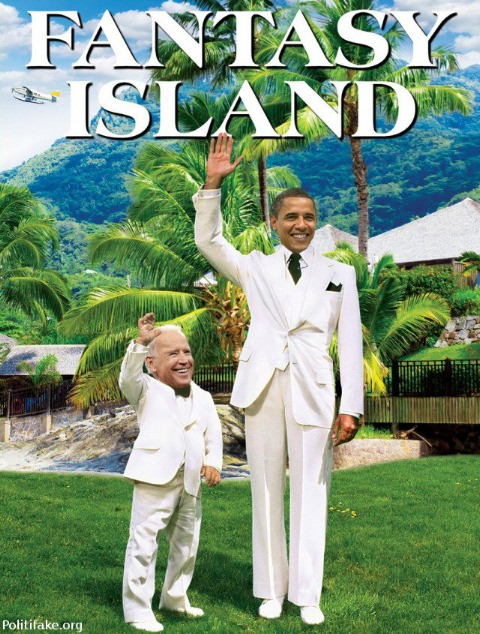 Obama Biden Fantasy Island Strangers in A Strange Land
