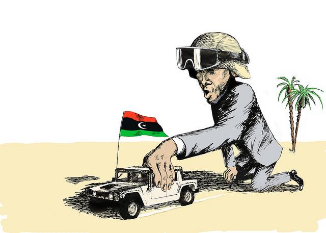 Obama Car Libya Flag SC Flicker.com CC 5914760451_0281079446_z