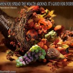 Obama Economy Thanksgiving Cornucopia Spead Wealth SC