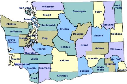 Washington map SC
