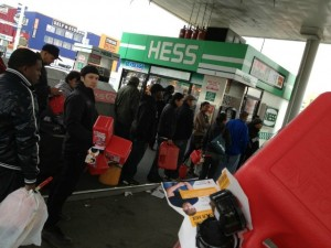 Hurricane Sandy Hess Gas Station On Long Island Sandy Victims May Relocate to Abandoned Prison