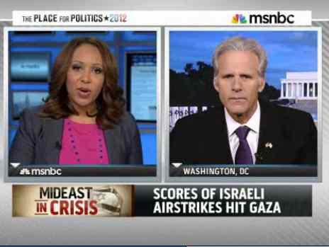 MSNBC lectures Israel jpeg