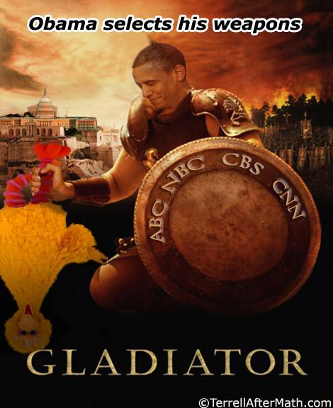 Obama Liberal Media Weapons Gladiator SC