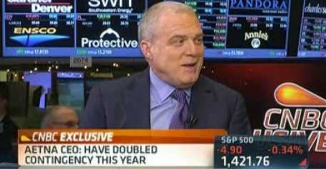 Aetna CEO ObamaCare could double health insurance premiums
