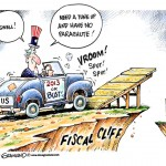 Fiscal Cliff cartoon