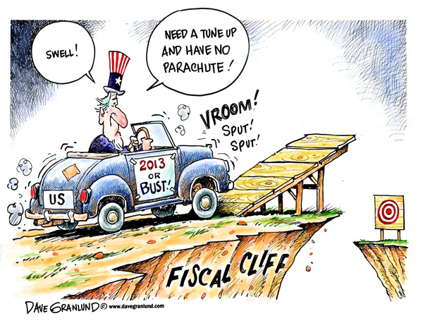 Fiscal Cliff cartoon1 Whats At Stake With the Fiscal Cliff?