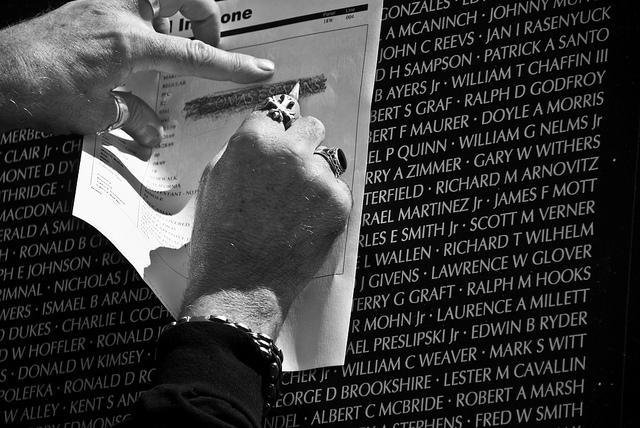 Flickr Creative Commons Gregory Jordan Vietnam Veterans Memorial Wall pencil name