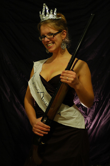 Miss America w shotgun Creative Commons Evil Erin Obama Lays Groundwork to Begin Disarming America
