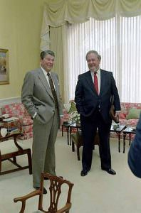 Reagan with Robert Bork 1987 198x300 Robert Bork: Biden's Historic 1987 Mistake Impacts Obama Today