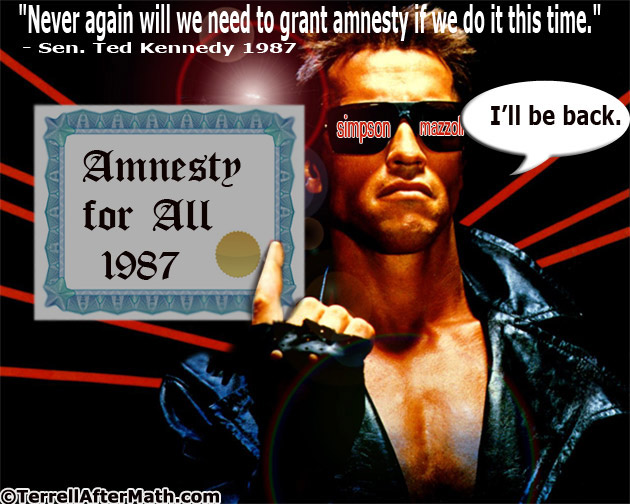 Amnesty 1987 Ill Be Back SC Amnesty to include a 50 percent increase of legal immigrants if S744 passes