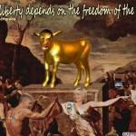 Obama Golden Calf Liberal Media SC