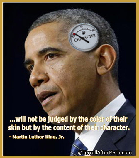 Obama MLK Content Of Character Gauge SC