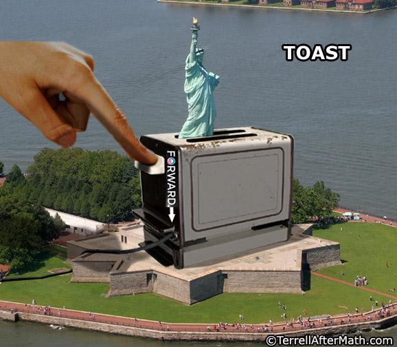 Obama Toast Forward Statue Of Liberty SC