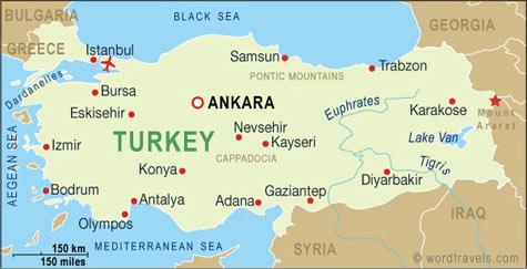 Turkey map SC